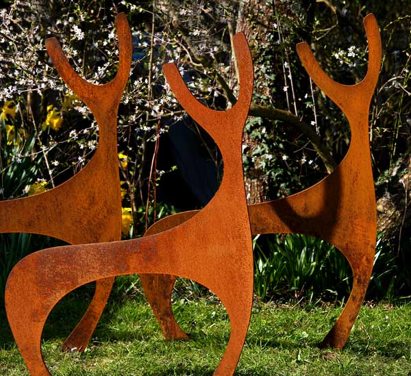Deer Garden Sculpture Contemporary Garden Sculptures