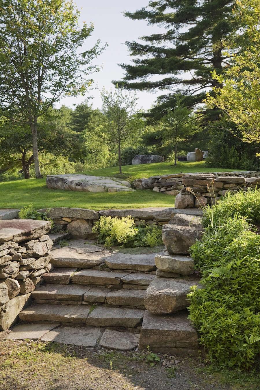 Architects Roundup 10 Garden Stairways Gardenista | Granite Stone Steps Outdoor