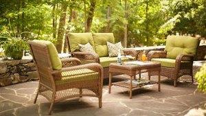 Charlottetown Loveseat Replacement Cushion Set Garden Winds