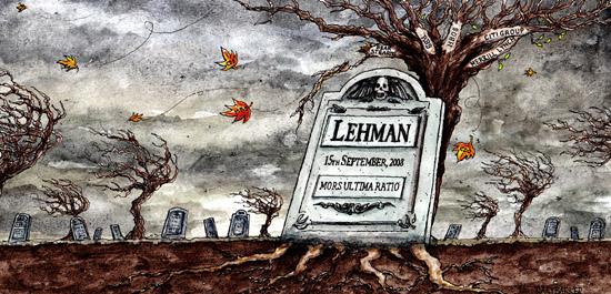 Lehman Brothers Illustration Uk Political Cartoonist