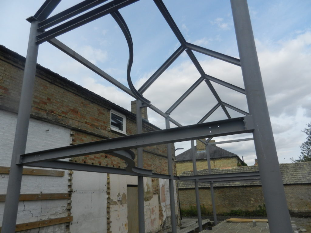 Steel Frame Extension Rear Of Victorian Building Gawn