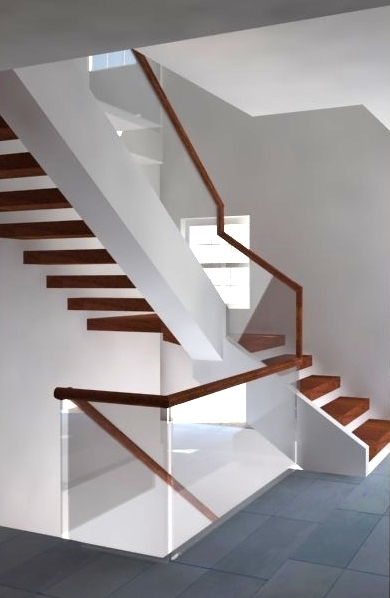 Glass Rail Systems In The Dc Area Glass Stair Railing   Glass Balustrade Stairs Near Me   Railing Systems   Handrails   Wood   Floating Stairs   Tempered Glass Panels