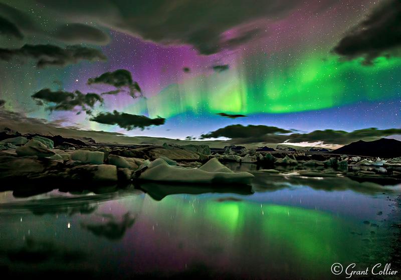 Northern Lights Iceland Jokulsarlon