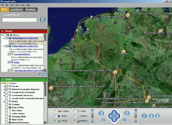 FSPilot Connects FS2004 to Google Earth   Google Earth Blog FSPilot and FS2004 in Google Earth