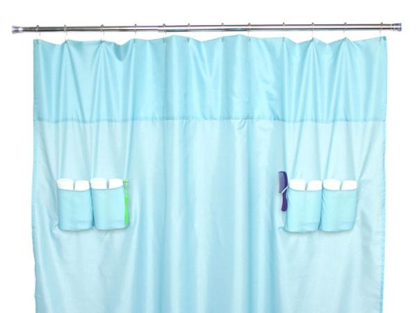 Utility Pockets Shower Curtain