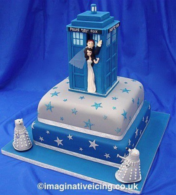 Beautiful Doctor Who Wedding Cake  Picture
