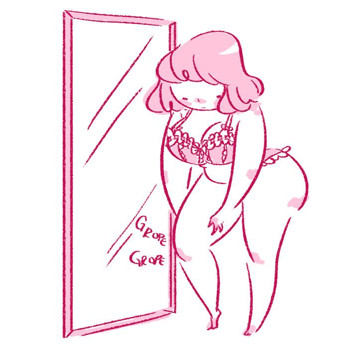 Body Positive Girl Tumblr Drawing