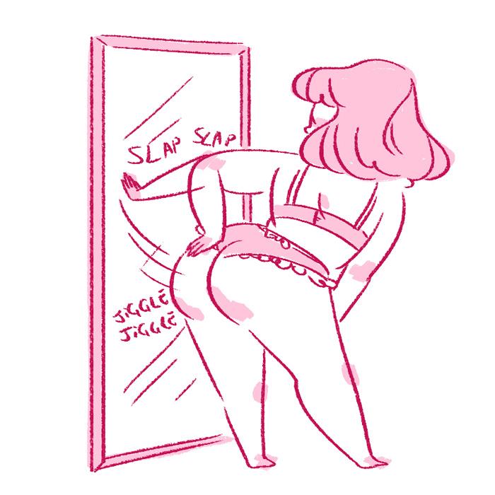 Body Positive Drawing Tumblr Girl