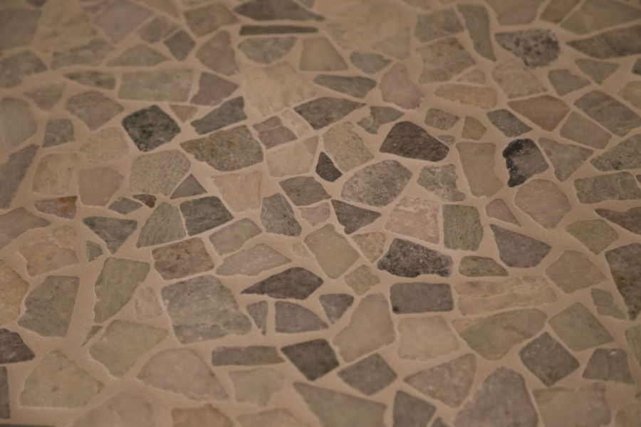 tile     Geeky Girl Engineer Shower floor tile grouted  closer view