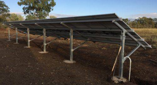 Pillar ground-mounted PV Installation - Back