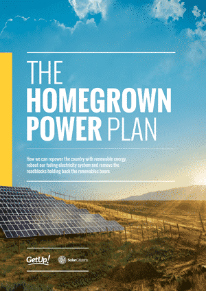 The launch of the Homegrown Power Plan in Brisbane