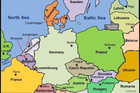 western europe political map with capitals » 4K Pictures | 4K ...