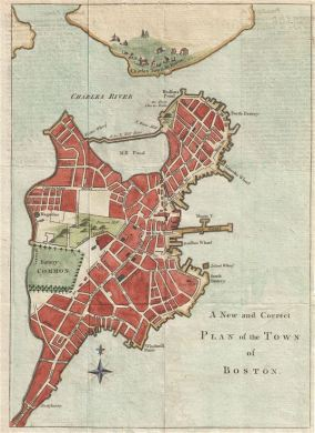 A New and Correct Plan of the Town of Boston   Geographicus Rare     A New and Correct Plan of the Town of Boston