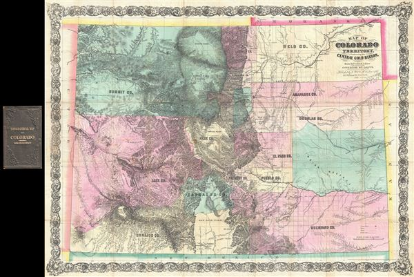Map of Colorado Territory  Embracing the Central Gold Region     Map of Colorado Territory  Embracing the Central Gold Region