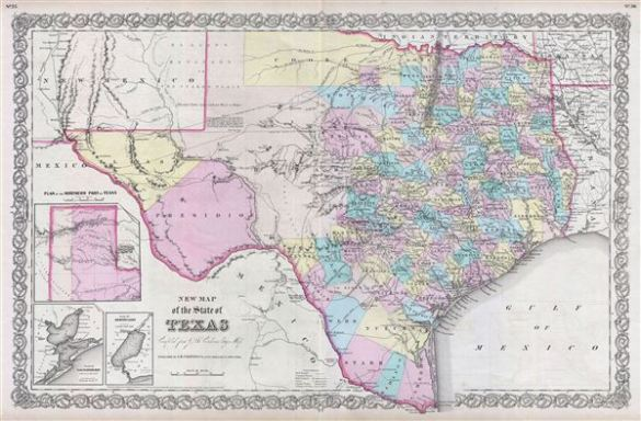 New Map of the State of Texas compiled from J  De Cordova s Large     New Map of the State of Texas compiled from J  De Cordova s Large Map