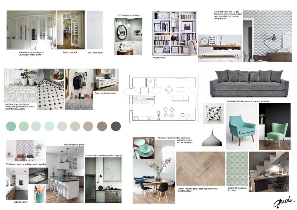 Interior Design Presentation Board Layout