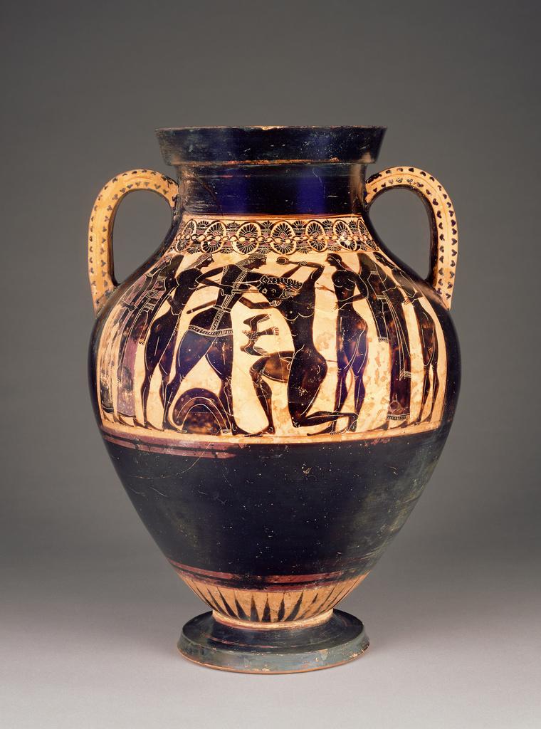 Attic Black Figure Amphora Getty Museum