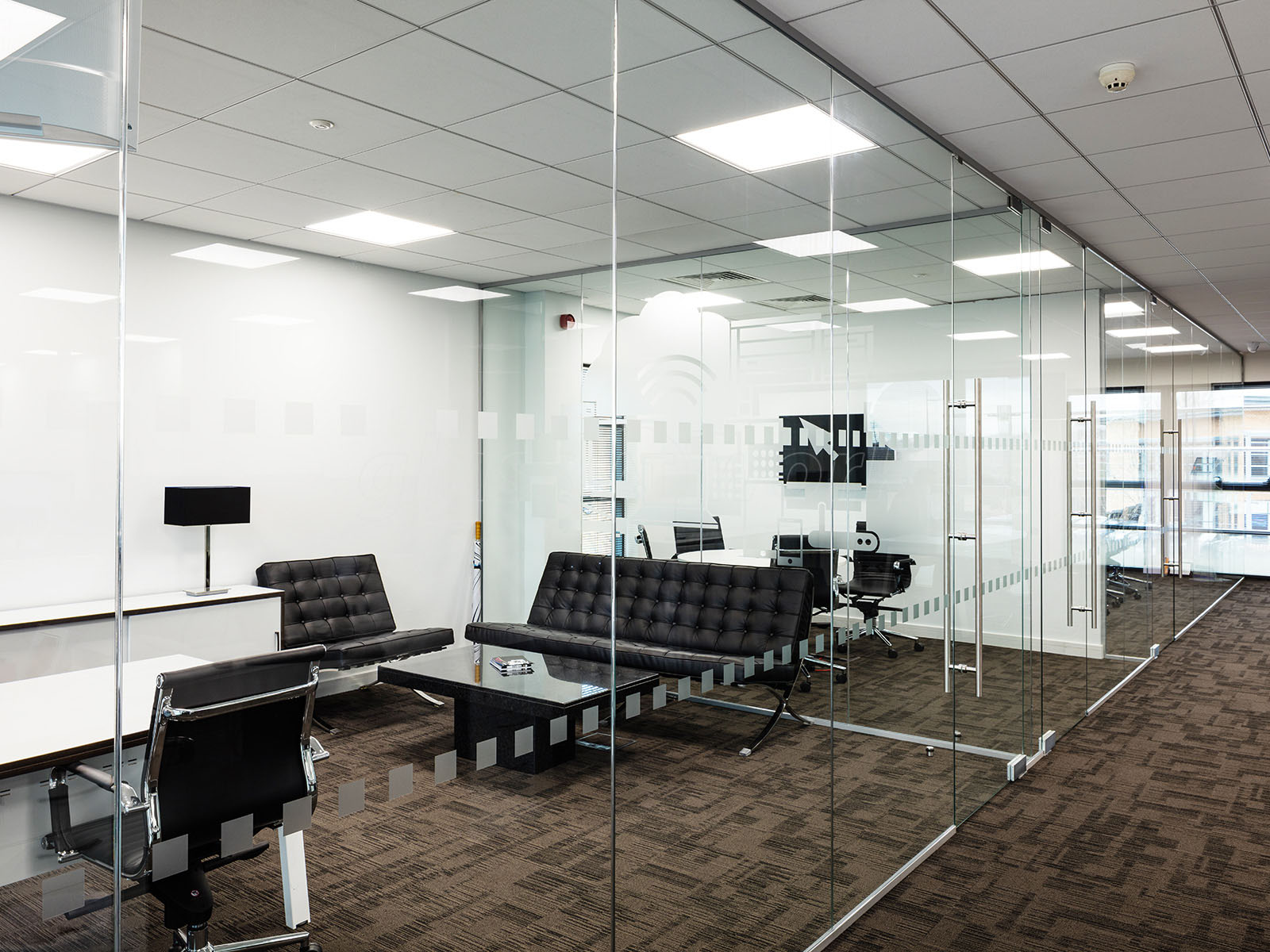 Glass Partitioning at Millgate Connect  Sheffield   Mulitple     Millgate Connect  Sheffield   Mulitple Interior Glass Walls