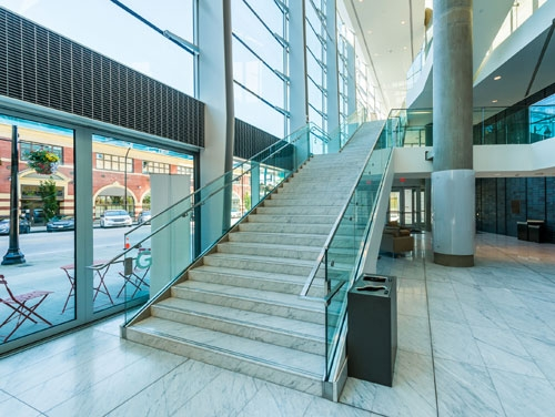 Commercial Glass Stairs Staircases Montreal Glass Experts   Commercial Building Staircase Design   Office   Interior   Edgy   Contemporary   Drawing