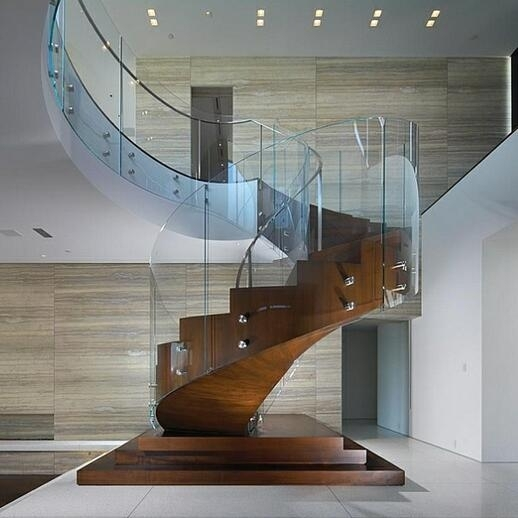 12Mm Curved Glass Tempered For Pool Fence Wholesale Price Glass | Glass Banisters For Stairs Price | Floating Stairs | Oak Staircase | Oak Handrail | Wood | Curved Glass
