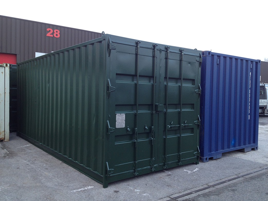 Best Kitchen Gallery: 20ft X 8ft Green Used Shipping Container of 20ft Shipping Container on rachelxblog.com