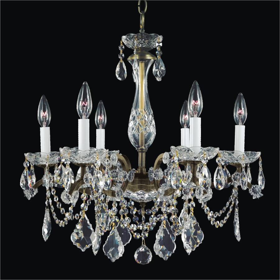 Iron And Crystal Chandelier 6 Light Chandelier 543a