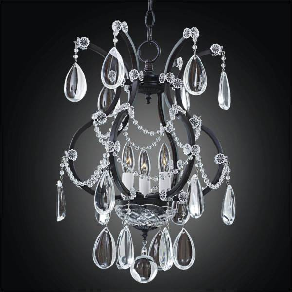 small black crystal chandelier # 6