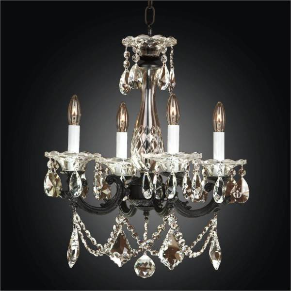 small black crystal chandelier # 20