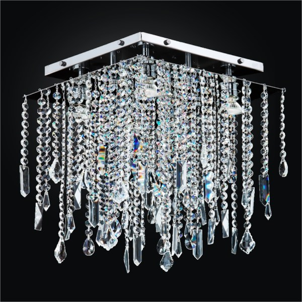 Crystal Ceiling Light Fixture   Cityscape 598     GLOW     Lighting Crystal Ceiling Light Fixture   Cityscape 598MC14 15SP 7