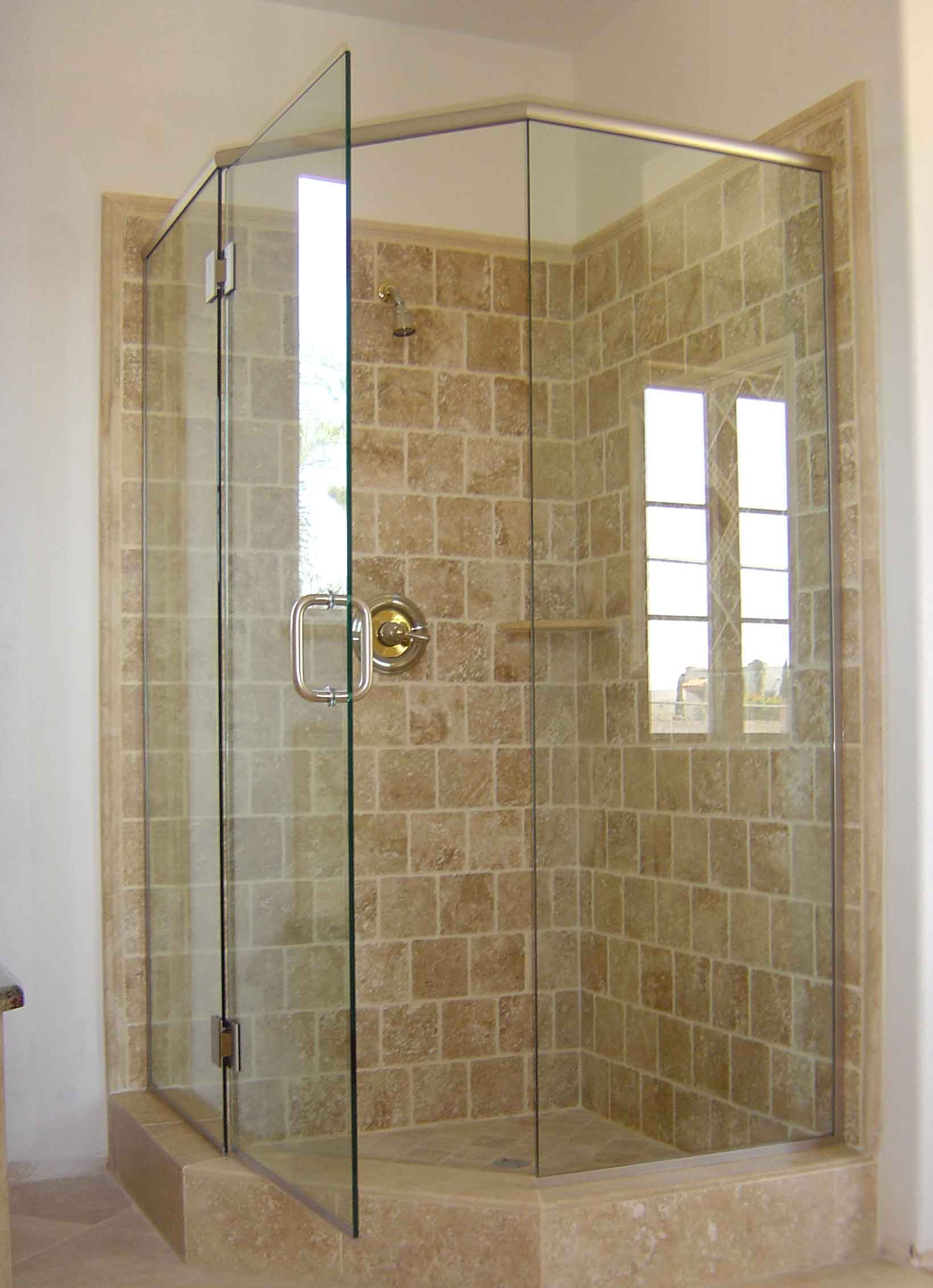 L Shaped Shower Curtain