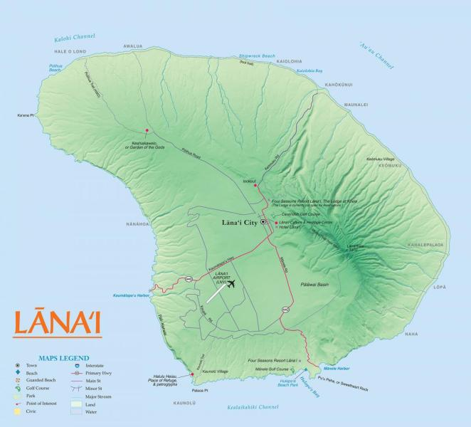 Lanai Maps   Go Hawaii View an image file of the map of Lanai