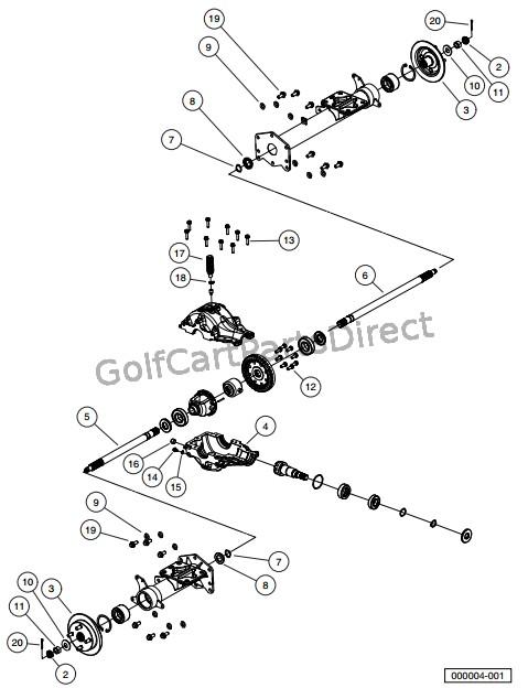 Club Car Xrt 1550 Parts