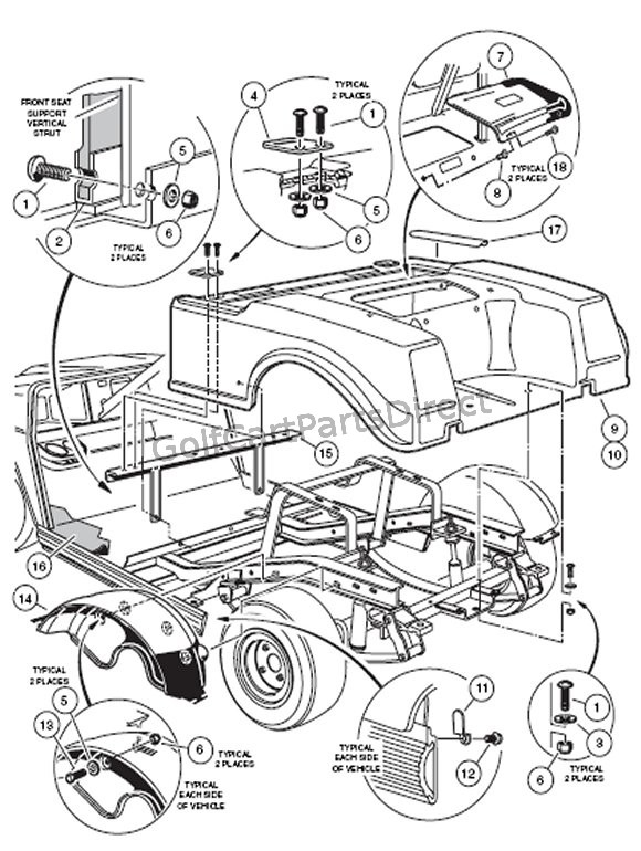 Club Cart Parts Diagram