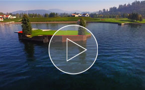 Coeur d Alene Resort Golf Course   World Famous Floating Green Best Golf Experiences