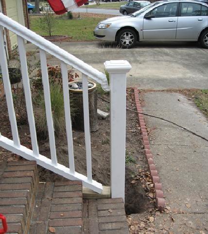 Installing A Vinyl Stair Railing Br   Vinyl Railing For Steps   Plastic   Leadvision   Exterior   2 Step   Front Door