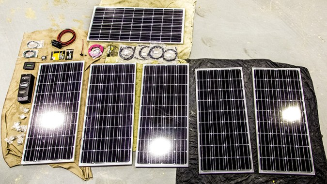 960 Watts All Electric Solar Kit rv solar install