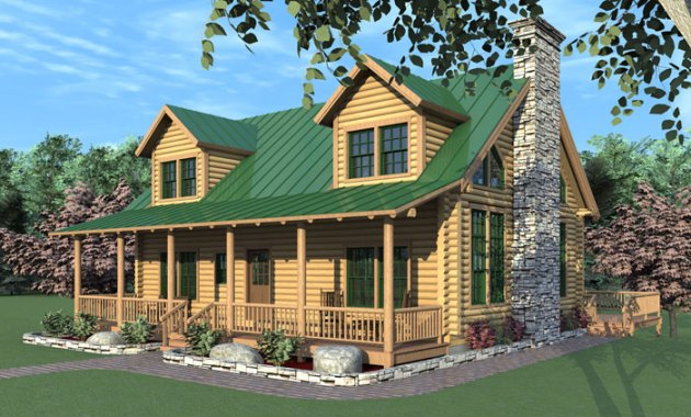 The West Hollow  Log Home Floor Plans NH  Custom Log Homes   Gooch     The West Hollow