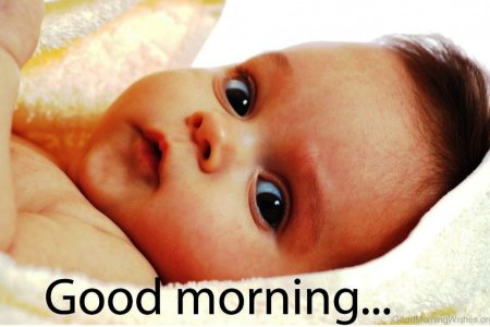 Cute Baby Say Good Morning Pic The Audi Car