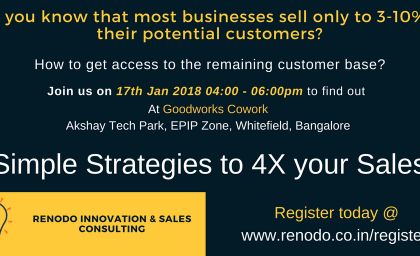 Workshop on Simple Strategies to 4X your Sales