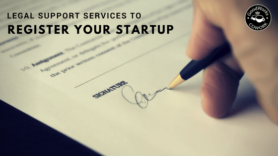 Legal support services to register your startup