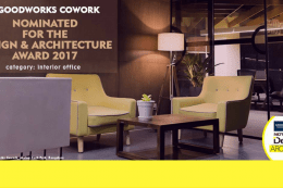 GoodWorks CoWork nominated for the NDTV Design & Architecture Award 2017