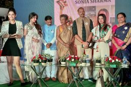 Sonia Sharma, Co-founder, GoodWorks awarded with 'Suraksha Chakra' award from Bangalore City Police