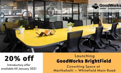 Launching GoodWorks Brightfield at Marthahalli – Whitefield Main Road