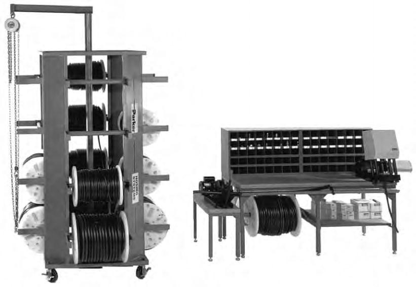 Hydraulic Hose Spool Storage Rack