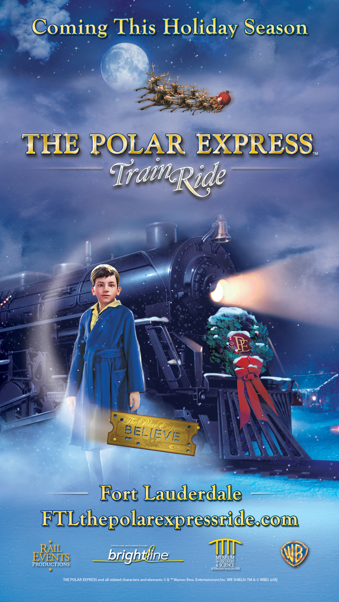 The Polar Express Train Ride Riverwalk Fort Lauderdale