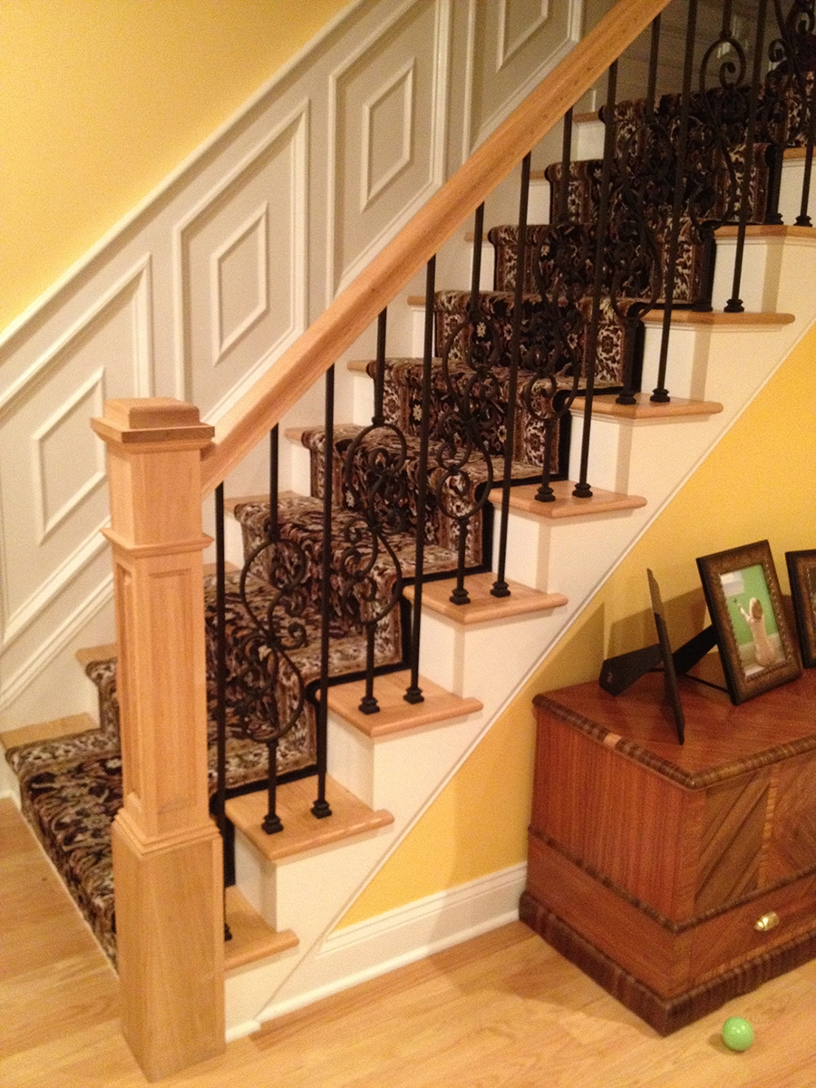 Stair And Rail System Installation Gorsegner Brothers   Hardwood Handrails For Stairs   Brown   Outdoor   Stairway   Light Wood   Colour Stair Painted Stair Railing