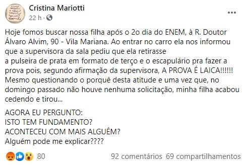 Facebook Cristina Mariotti