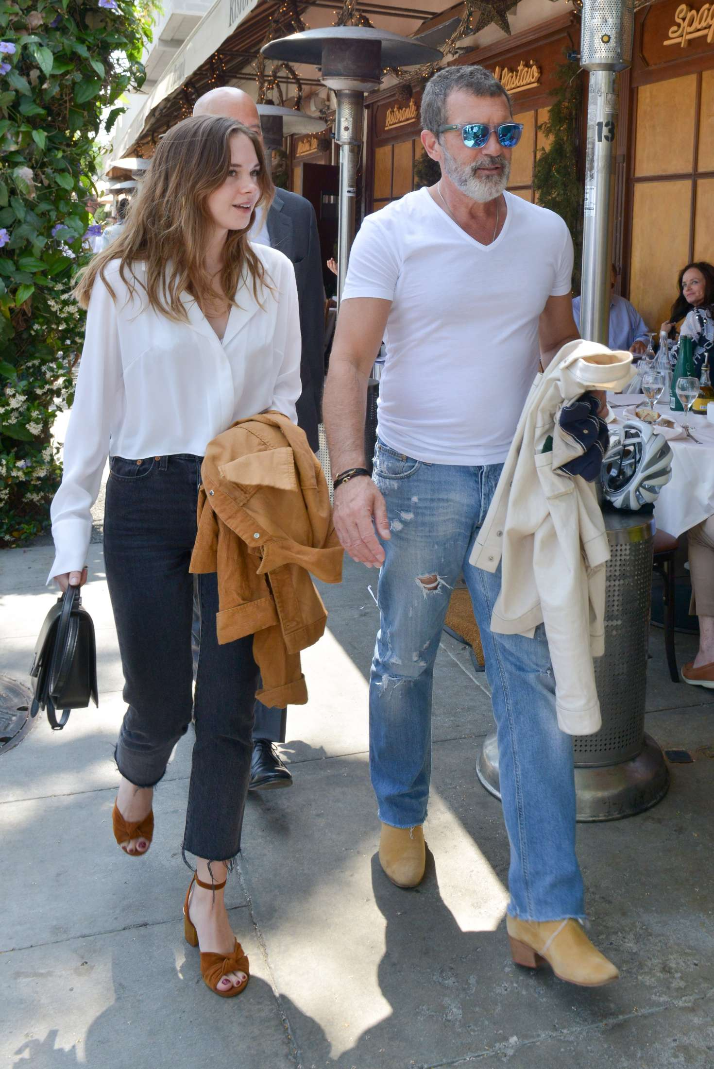 Stella Banderas Has Lunch With Her Father Antonio Banderas