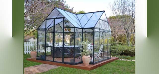 Garden Orangerie Greenhouse Gothic Arch Greenhouses