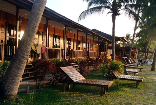 Redang Kalong Resort sunbath deck
